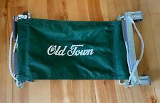 Vtg ? Old Town Canoe Extra Seat for Canoe Green Nylon With Hardware Hooks On USA