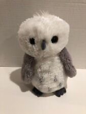 "Aurora World Snowy Grey White Plush Owl Destination Nfation Brown Eyed 12"" Cute"