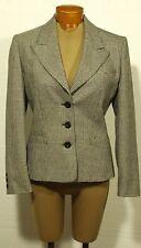 women's AQUASCUTUM houndstooth tweed wool jacket blazer size 6