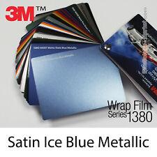 Proben - Matt Ice Blue Metallic 3M 1380 S257 Wrapping Total Abdeckung Folie