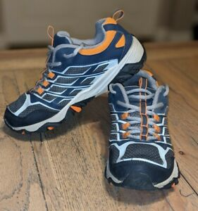 Merrell Select Grip M-Moab Waterproof Hiking Shoes Boys Navy/Grey/Orange Size 3M