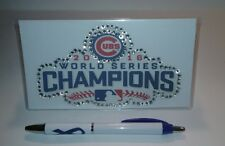 2016 Chicago Cubs World Series ChaCustom Checkbook Cover With Free Awareness Pen