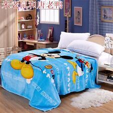 New Mickey Mouse&Donald Duck Soft Silky Throws Flannel Blanket Bedding Rug Gift