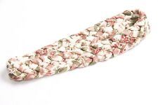 Stunning Flowery Pattern Beige Waved Stretchy Hairband One Size