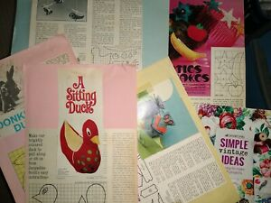 TOYS ETC GRID SEWING PATTERNS & BOOK - DUCK, DONKEY ETC