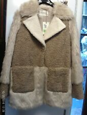 NEW LADIES CREAM MARKS AND SPENCER INDIGO COLLECTION FAUX FUR COAT.SIZE12.