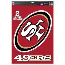 "San Francisco 49ers 11"" x 17"" Multi Use Decals - Auto, Walls, Windows, Cornhole"