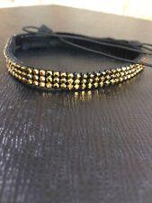 Crystal Dorado (bronze) crystal hair band