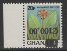 More details for ghana sg1262a 1988 100c on 20p surcharge inverted mnh