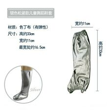 Children Adult Shoe Covers Satin Elastic Shiny Boot Top Perform Cosplay Dance