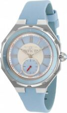 New Ladies Invicta 31664 Angel Quartz 3 Hand Light Blue Dial 37mm Watch