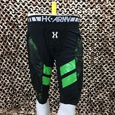 NEW HK Army Crash Padded Paintball Slider Shorts - Black/Neon Green - 2/3XL