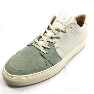 THE GREATS Royale Men's 13 Leather Green Teal Sneakers Made in Italy NEW