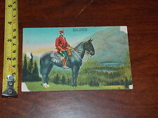POSTCARD VINTAGE OLD RARE ROYAL CANADIAN MONTED POLICE CORNER ISSUES