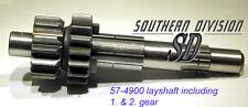 Triumph 5 Speed Gearbox layshaft 57-4900 with Gears 57-4791 57-4787 junto a ola