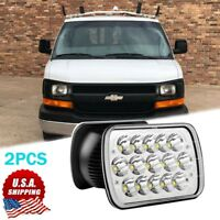 "For Chevy AWD Express LT Cargo Van 1500 2500 3500 Truck 7''x6"" 5x7 LED Headlight"