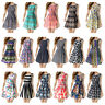 Summer Women Chiffon Sleeveless Party Sundress Stitching Casual Mini Beach Dress