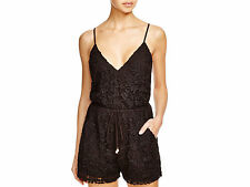 6 Shore Road Black Weekender Lace Swimsuit Cover Up Romper Large L NEW! NWT!