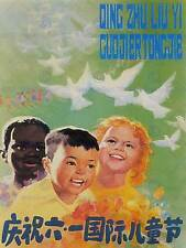 ADVERT CULTURAL CHINA CHILDREN INTERNATIONAL DAY PEACE DOVE POSTER BB2190A