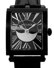 Millage The Evreux Collection Ml0073-B Black Calf Leather Swiss Men's Watch