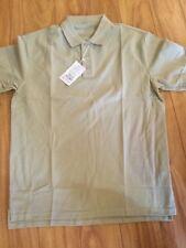 vancl basic style mens polo shirt size L short sleeve khaki
