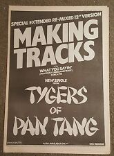 Tygers of Pan Tang 1982 press advert Full page 30 x 42cm mini poster