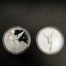 Mexican libertad set of 2 coins 1 oz .999 silver proof and reverse proof.