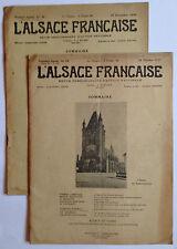 lot de 2 revues anciennes l'Alsace Francaise 1927 n° 44 1930 n° 49