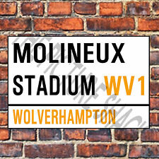 WOLVERHAMPTON WANDERERS STREET SIGN ON A TEA/COFFEE COASTER. MOLINEUX 9cm X 9cm