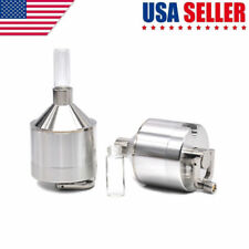 4.4x10.7CM Metal Powder Grinder Hand Mill Funnel with Snuff Glass Bottle US Ship