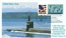 USS LOUISIANA SSBN-743 USN Missile Submarine Color 20th Anniversary Pictorial PM