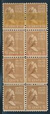 """#805 VAR. 1 1/2¢ """"MARTHA"""" BLK/8 WITH DOUBLE PAPER WITH BEP TAPE ERROR BR5011"""