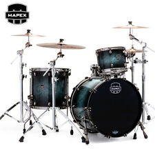 Mapex SATURN V MH Exotic Rock Drum Set 3-Piece Shell Pack Deep Water Maple Burl
