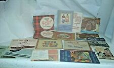 Vintage cook book recipe booklets 1940s-50s