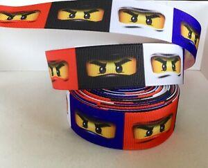 YARD DISNEY LEGO NINJAGO NINJA EYES GROSGRAIN RIBBON CHARACTER CRAFT CAKE BOW