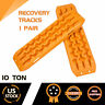 2Pcs Recovery Tracks Sand Tracks Traction Snow Tire Off Road Ladder Orange 4WD