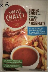 Swiss Chalet Dipping Sauce Mix 25% Less Salt x 6 Packets Made in Canada New