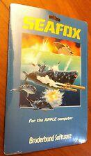 Sealed Seafox by Broderbund 1982 arcade game 5.25 disk Apple II+,IIe,IIc,IIgs