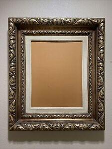 "Vintage Gold Ornate Wood Gesso Painting Portrait Picture Photo Frame 10"" X 13"""
