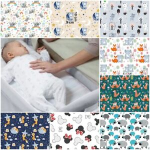 2x FITTED SHEET compatible with chicco next to me bedside crib cotton stars