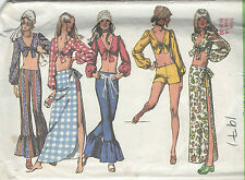 Simplicity Sewing Pattern 9412 Vintage Midriff Top Pants Skirt Shorts Size 10