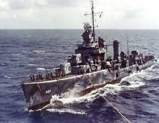 WWII Color Photo US Navy Buchanan DD-484  WW2 / 7007