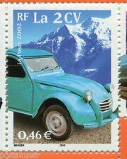 FRANCE 2002, timbre 3474, SIECLE AU FIL, TRANSPORTS, AUTOMOBILE, 2 CV, neuf**