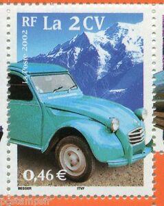 FRANCE 2002, timbre 3474, SIECLE AU FIL, TRANSPORTS, AUTOMOBILE, 2 CV, neuf**