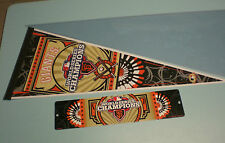 2012 GIANTS WORLD SERIES CHAMPIONS PENNANT & STREET SIGN