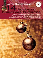 Advanced Christmas Favourites Alto Saxophone Carols Songs Sax Music Book & CD