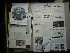 ANNEES 1980 1 LOT 53 REVUES MUSEE D'ART ET D'ESSAI LE PETIT JOURNAL
