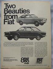 1968 Fiat 850 Coupe & 124 Coupe Original advert