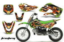 Decal Graphic Kit Wrap + # Plates For Kawasaki KLX 110 02-09 KX 65 02-18 FSTRM G