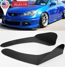 Black Front Bumper Lip Splitters Spoiler Winglet Blade Valances For Mazda Subaru